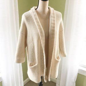 Madewell Cardigan Chunky Knit Cotton